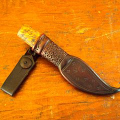 old school damascus puukko