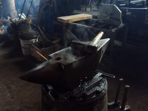 My anvil is smoking from hard work. Ok it was winter, but still I like this picture very much.