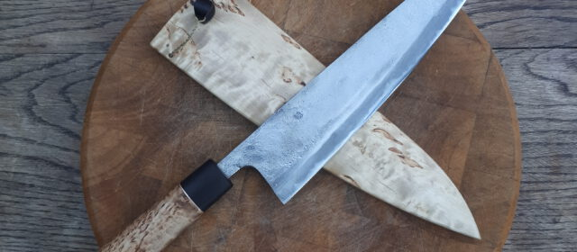 TNT666/1.2443 Sanmai curlybirch kitchen knife
